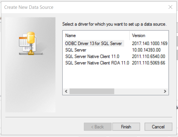 Setting up an ODBC connection with MS SQL Server on Windows